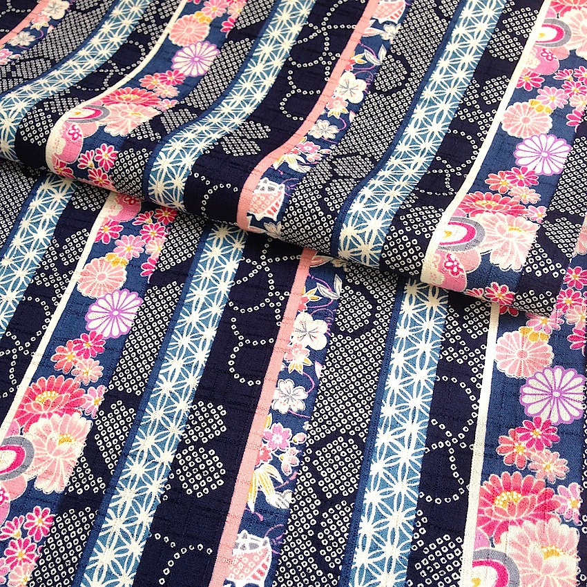 tissu japonais motif traditionnel rayures riche en. Black Bedroom Furniture Sets. Home Design Ideas