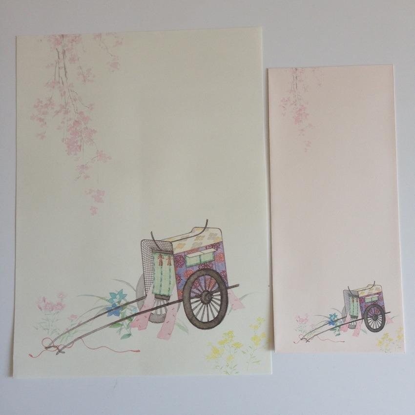 papeterie japonaise avec enveloppes goshoguruma 12 feuilles et 4 enveloppes p039 nuno. Black Bedroom Furniture Sets. Home Design Ideas